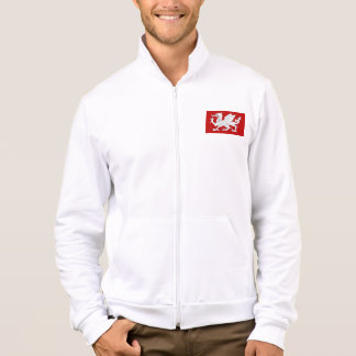 Saxon White Dragon Flag Men's Fleece Jacket