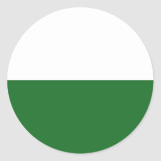 saxony region flag germany country state land classic round sticker