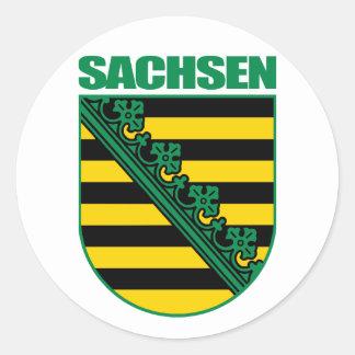 Saxony (Sachsen) COA Classic Round Sticker
