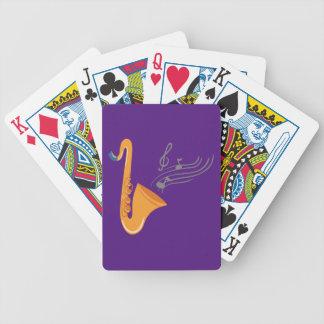 Saxophon saxophone sax bicycle playing cards