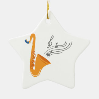 Saxophon saxophone sax ceramic star ornament
