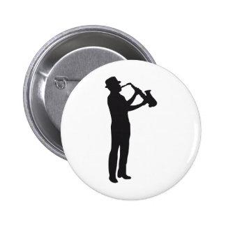 saxophone 2 inch round button