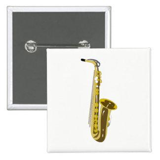 Saxophone 2 Inch Square Button