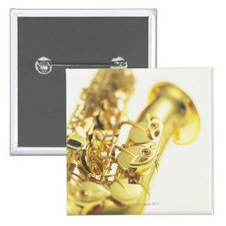 Saxophone 3 2 inch square button