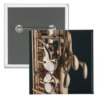 Saxophone 5 2 inch square button