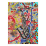 Saxophone Abstract Posters