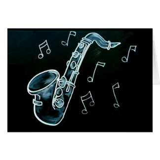 Saxophone And Music Notes