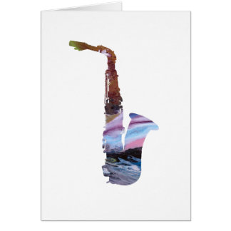 Saxophone Art Card