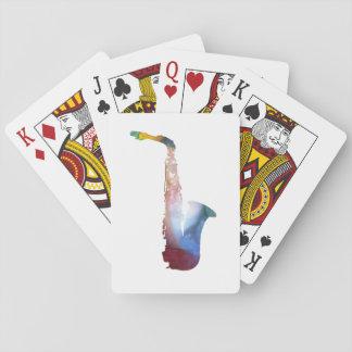 Saxophone Art Playing Cards
