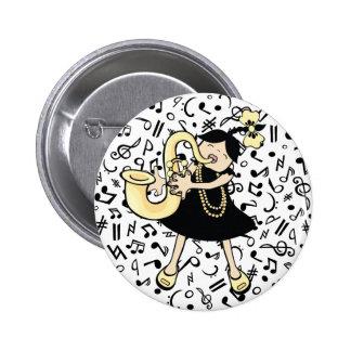 Saxophone Baby 2 Inch Round Button