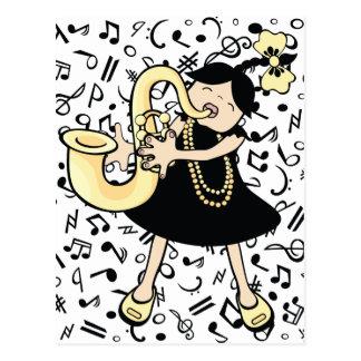 Saxophone Baby Postcard