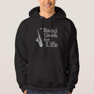Saxophone Band Geek Hoodie