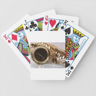 saxophone bicycle playing cards