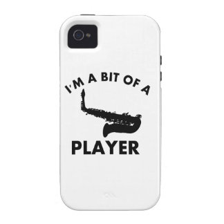 saxophone bit of a player musical designs Case-Mate iPhone 4 cover