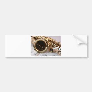 saxophone bumper sticker