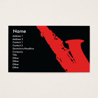 Saxophone - Business Business Card