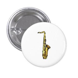 Saxophone Pinback Button