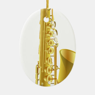 Saxophone Ceramic Ornament