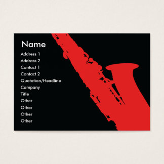 Saxophone - Chubby Business Card