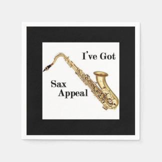 Saxophone Cocktail Napkins Paper Napkin
