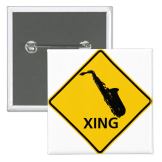 Saxophone Crossing Highway Sign Buttons