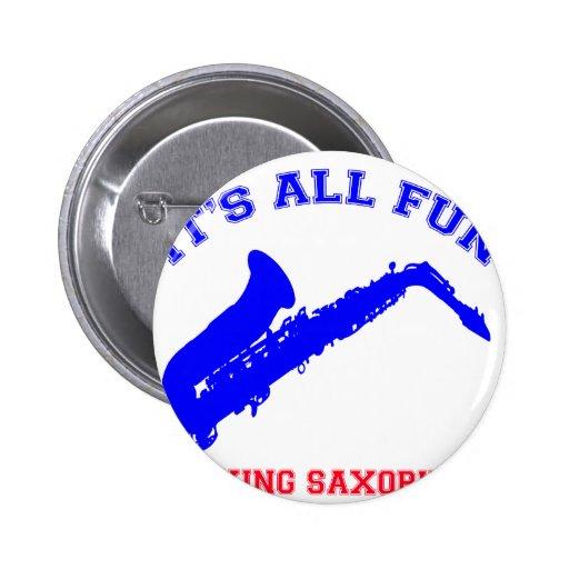 saxophone Designs Pin