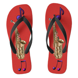 Saxophone environment jazz flip flops