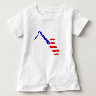 Saxophone Flag Background Baby Romper