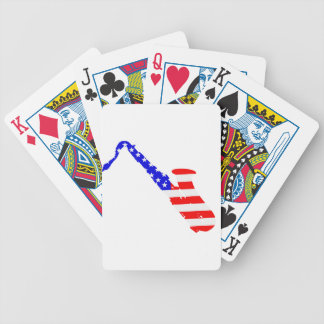 Saxophone Flag Background Bicycle Playing Cards