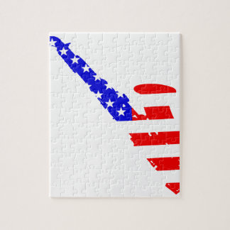 Saxophone Flag Background Jigsaw Puzzle