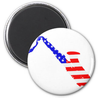 Saxophone Flag Background Magnet