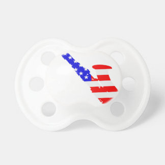 Saxophone Flag Background Pacifier