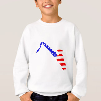 Saxophone Flag Background Sweatshirt