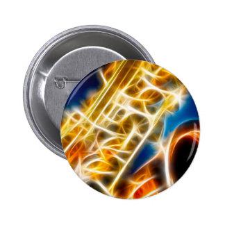 Saxophone - Fractal 2 Inch Round Button