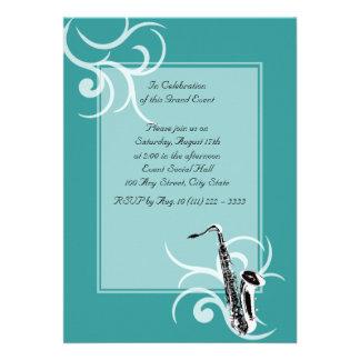 Saxophone Full Color Announcement