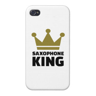 Saxophone king crown iPhone 4 cover