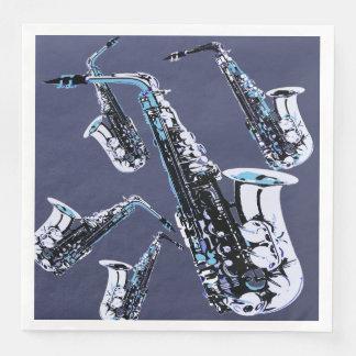 Saxophone Mania Paper Napkins