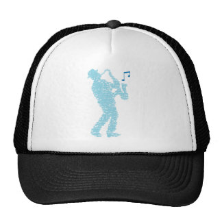 Saxophone more player built with notes trucker hat