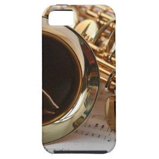 Saxophone Music Gold Gloss Notenblatt Keys iPhone 5 Case