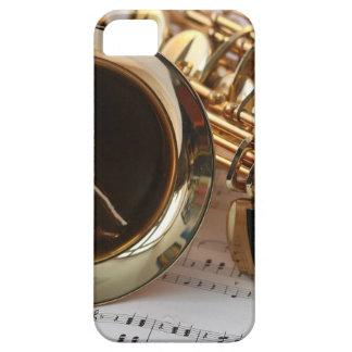 Saxophone Music Gold Gloss Notenblatt Keys iPhone 5 Covers
