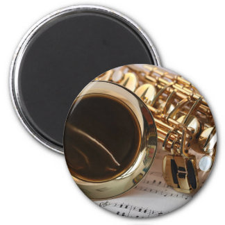 Saxophone Music Gold Gloss Notenblatt Keys Magnet