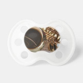 Saxophone Music Gold Gloss Notenblatt Keys Pacifier