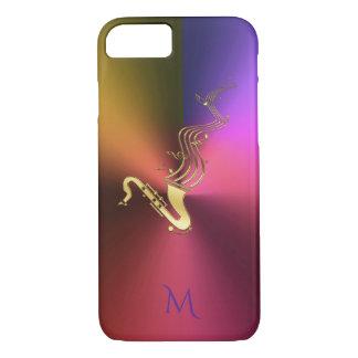 Saxophone Music Metallic Monogram iPhone 7 Case