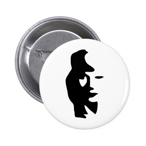 Saxophone Or Woman Optical  Illusion Buttons
