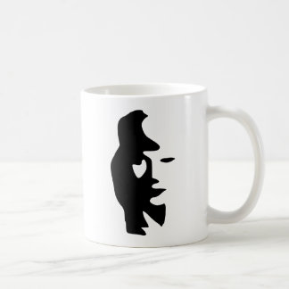 Saxophone Or Woman Optical  Illusion Coffee Mugs