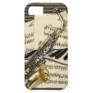 Saxophone & Piano Music Case For The iPhone 5