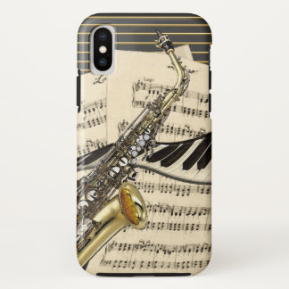 Saxophone & Piano Music Illustration Case-Mate iPhone Case