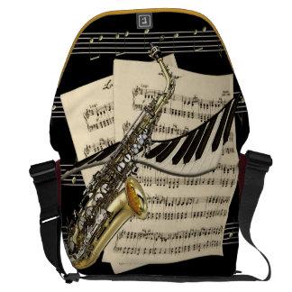Saxophone & Piano Music Large Messenger Bag