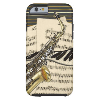 Saxophone & Piano Music Tough iPhone 6 Case