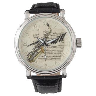 Saxophone & Piano Music Wrist Watches